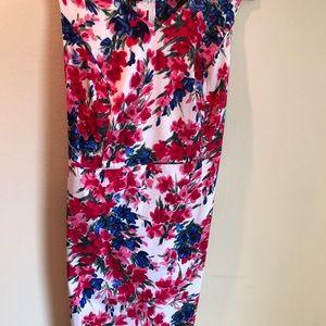 Talbots Cotton Sateen Floral Dress